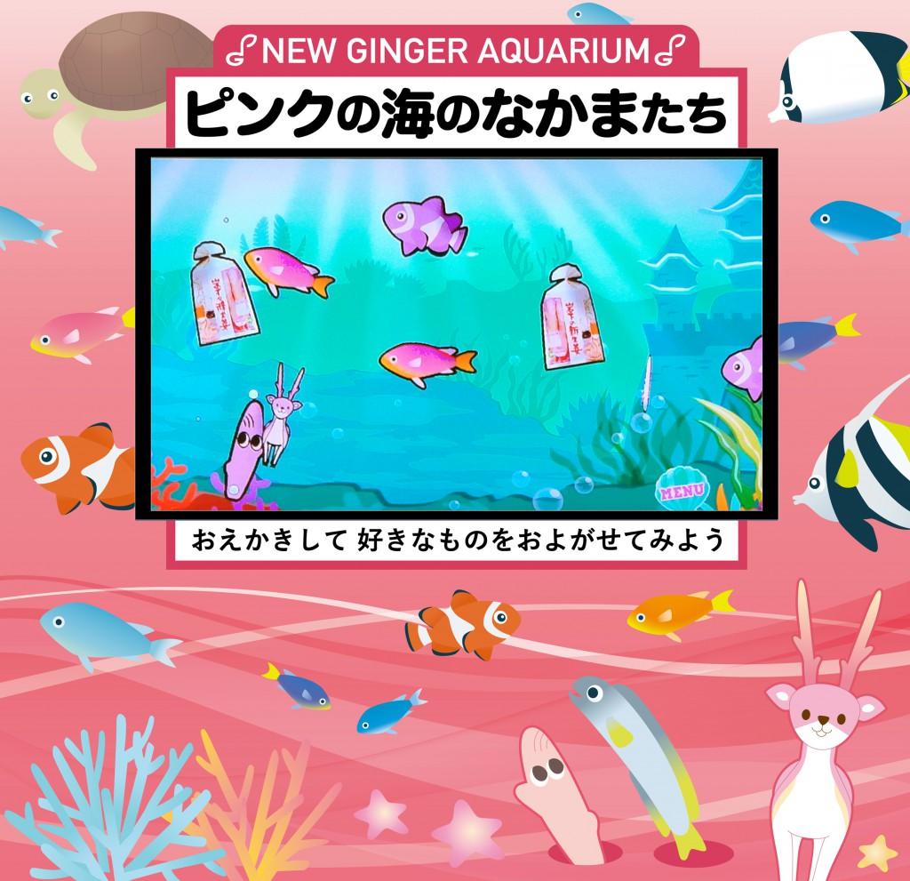 ピンクの海のなかまたち~NEW GINGER AQUARIUM~