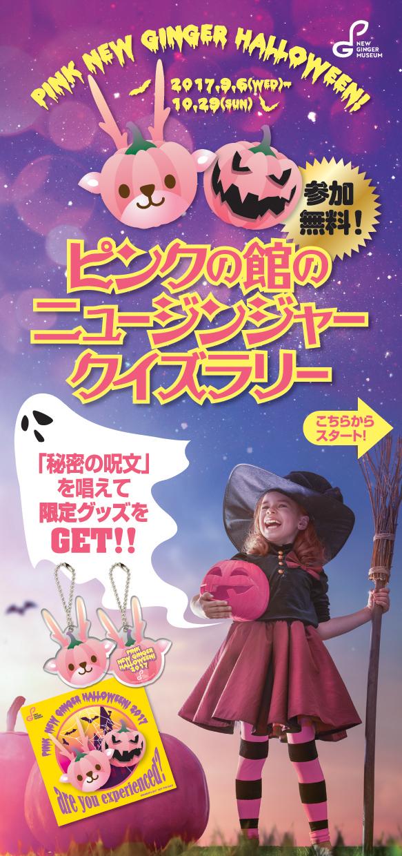 『ピンクの館のニュージンジャークイズラリー』パンフレット表紙