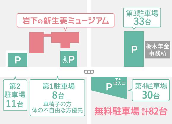 駐車場配置図|岩下の新生姜ミュージアム