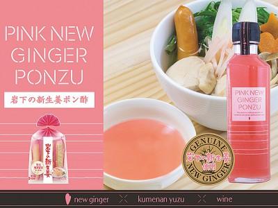 新商品『PINK NEW GINGER PONZU(岩下の新生姜ポン酢)』