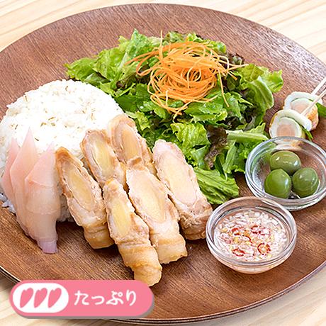 画像:岩下の新生姜肉巻きプレート~エスニックソース~
