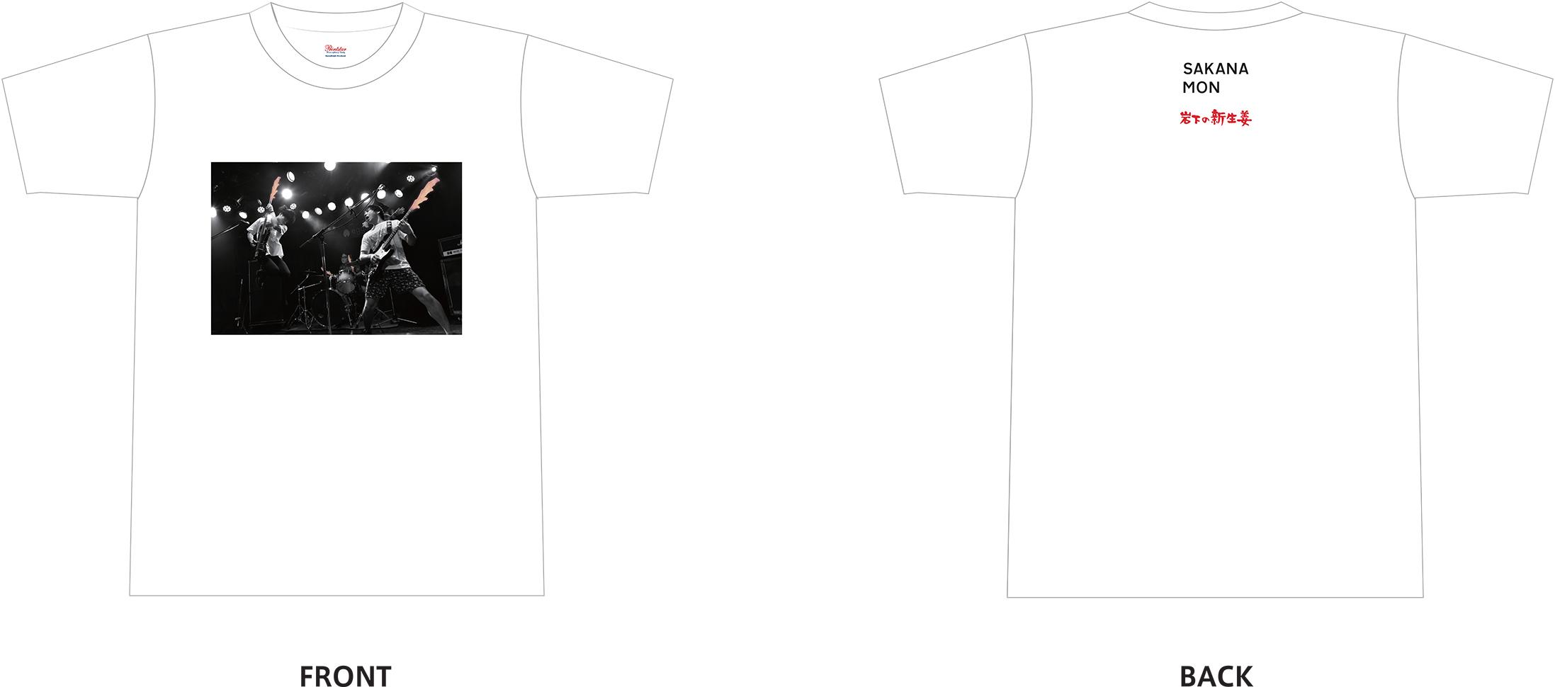 画像:Tシャツデザイン(前面、背面)