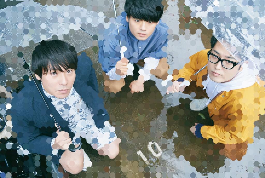 画像:3ピースギターロックバンド「SAKANAMON」アー写。左から藤森元⽣(Vo/G)、森野光晴(B)、木村浩⼤(Dr)