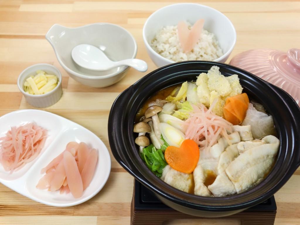 画像:チーズリゾットで〆る ぽかぽか岩下の新生姜鍋