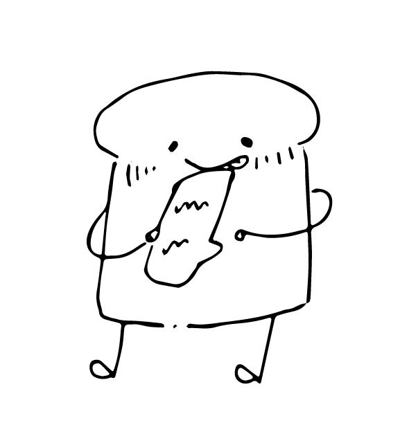 画像:eat me sandwich「サンドくん」イラスト