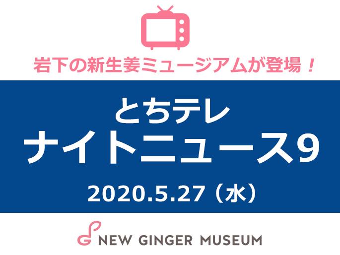 画像:とちぎテレビ『ナイトニュース9』に岩下の新生姜ミュージアムが登場