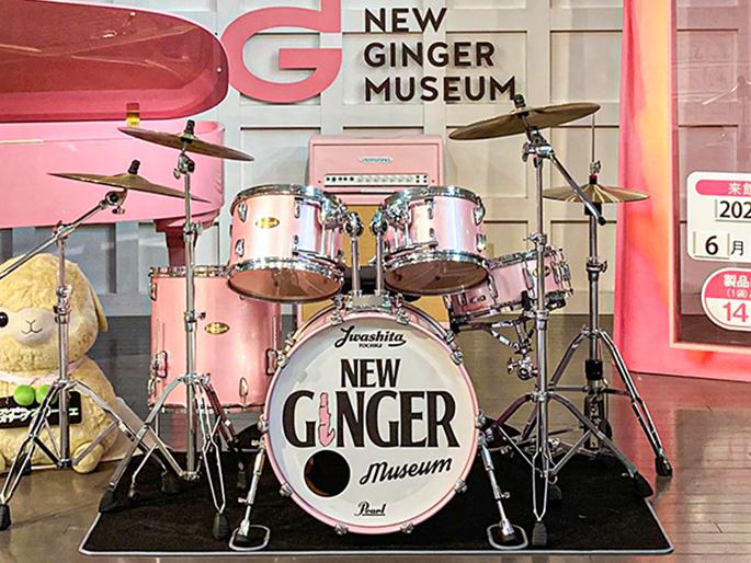 画像:岩下の新生姜ドラムセット